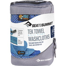 Sea to Summit Tek Serviette pour chien 2 gants de toilette, cobalt/pacific